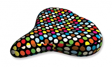 Liix Saddle Cover Polka Dots Mix Black