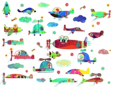 Wall sticker, Flying vehicles