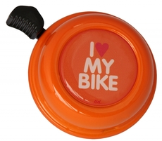 Liix Colour Bell I love My Bike Orange