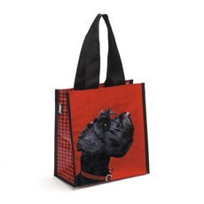 Terrier on Red Carry Bag