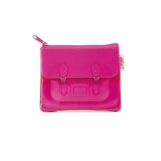 Fluoro Pink Satchel Coin purse