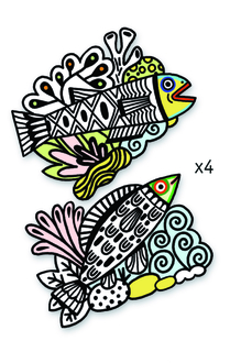 Coloring velvet, Pretty fishes
