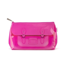 Fluoro Pink Satchel Washbag