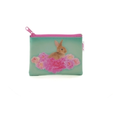 Bunny on Flower Coin Purse