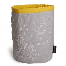 Quilted basket - large Grey