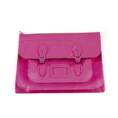 Fluoro Pink Satchel A4 Pouch