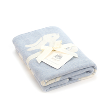 Bashful Blue Bunny Blanket